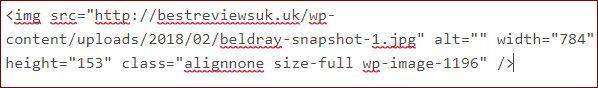 HTML code showing image size-full